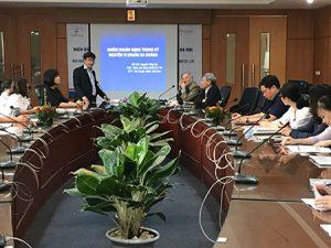 PGS.TS Phạm Đức Huấn nhấn mạnh tầm quan trọng của nội dung hội thảo